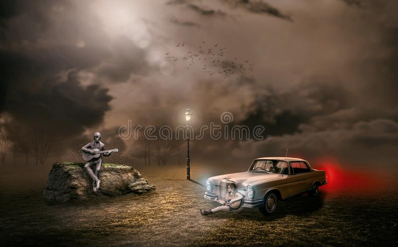 Car, Automotive Design, Dust, Sky royalty free stock images