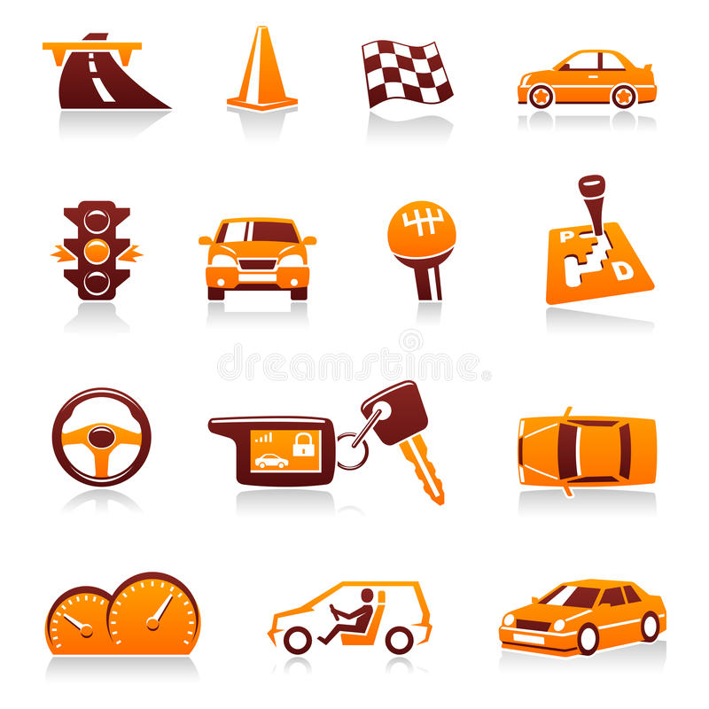 Download Car And Automotive Vector Icon Set Stock Vector - Illustration of highway, button: 23793995