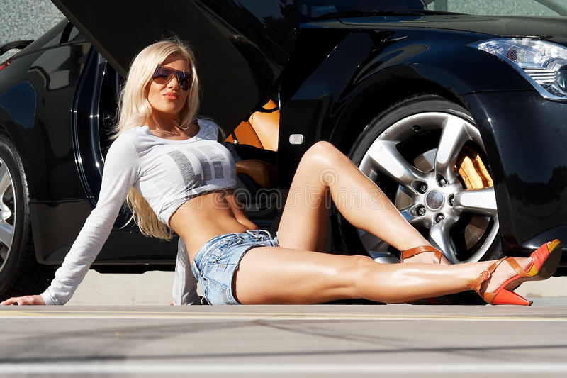 Download Car and babe stock image. Image of expensive, hair, motor - 11042667