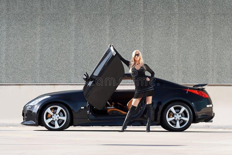 Car & babe stock photography