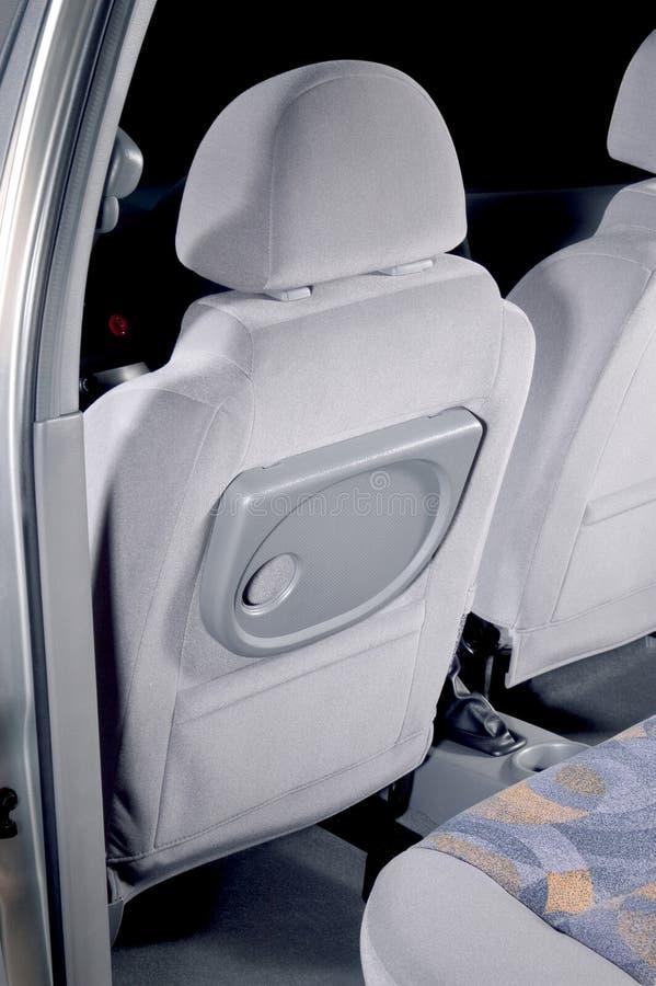 Car back seats interior. The car back seats interior royalty free stock photography
