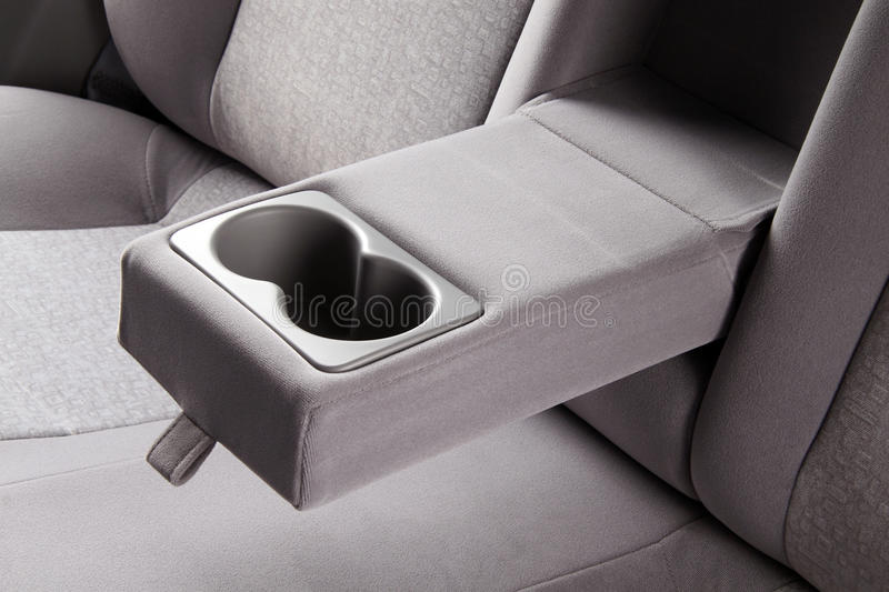Car back seats interior. The car back seats interior stock images