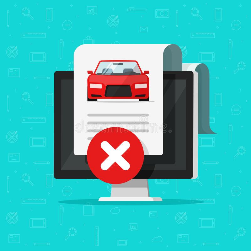 Free Car Bad History Check Or Report Document Disapproved On Computer, Failed Vehicle Electronic Diagnostic Or Automobile Royalty Free Stock Photos - 134666468
