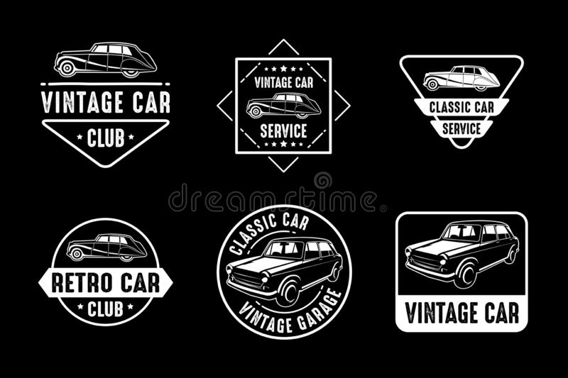 Car Badge and Logo, good for print. Best vector stock illustration