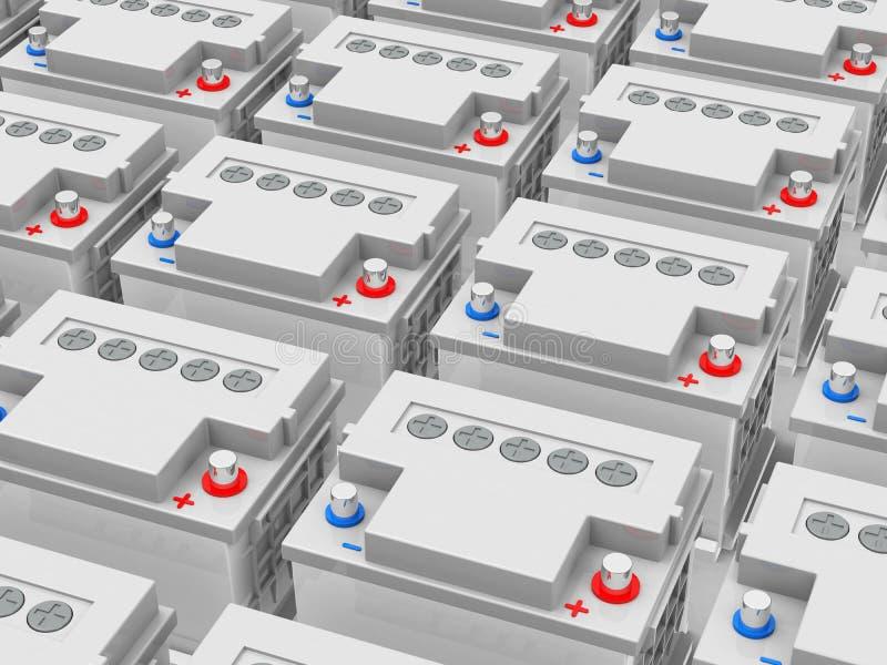 The Car Batteries Stock Illustration