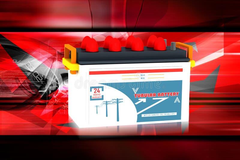 Car battery stock illustration
