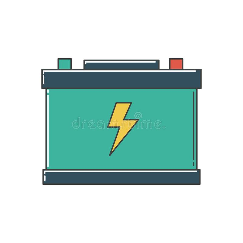 Car Battery. stock illustration