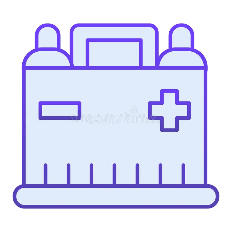 Car battery flat icon. Auto alkaline blue icons in trendy flat style. Automobile accumulator gradient style design. Designed for web and app. Eps 10 vector illustration