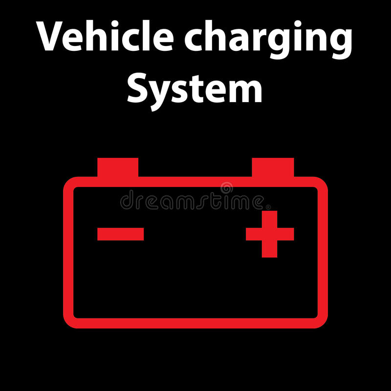 Car Battery Icon Electric Charging System Dashboard Warning - Car image sign of dashboardcar dashboard icons stock images royaltyfree imagesvectors