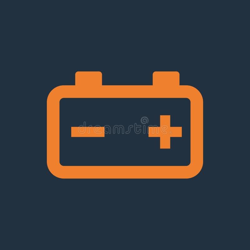 Car battery icon. Single icon. Vector illustration royalty free illustration