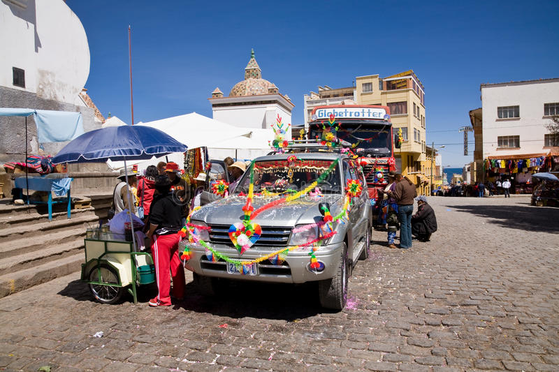 Car Blessing, Copacabana royalty free stock photo