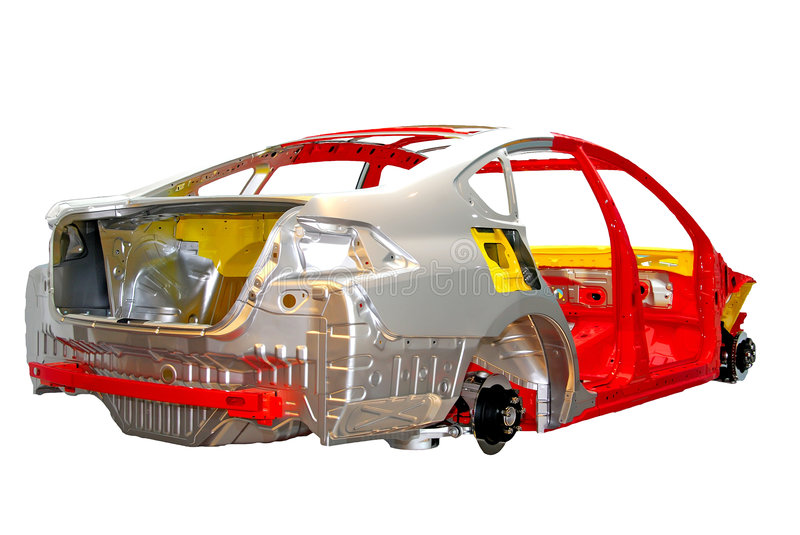 Car body frame stock photo. Image of wheel, color, empty - 5522794