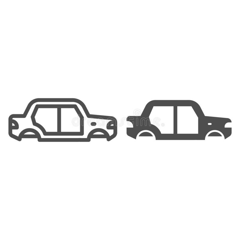 Car body line and glyph icon. Car body vector illustration isolated on white. Auto body outline style design, designed vector illustration
