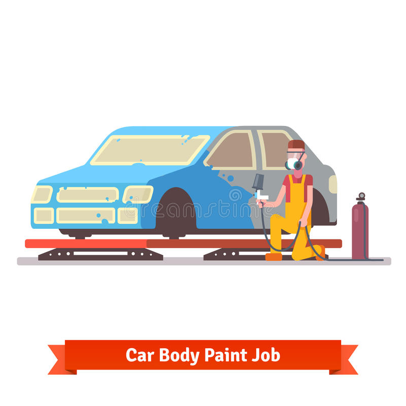 Car body paint job stock vector image 60844893 for Body paint auto