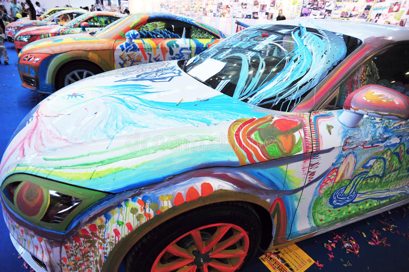 Download Car body painting editorial photo. Image of person, show - 26986241