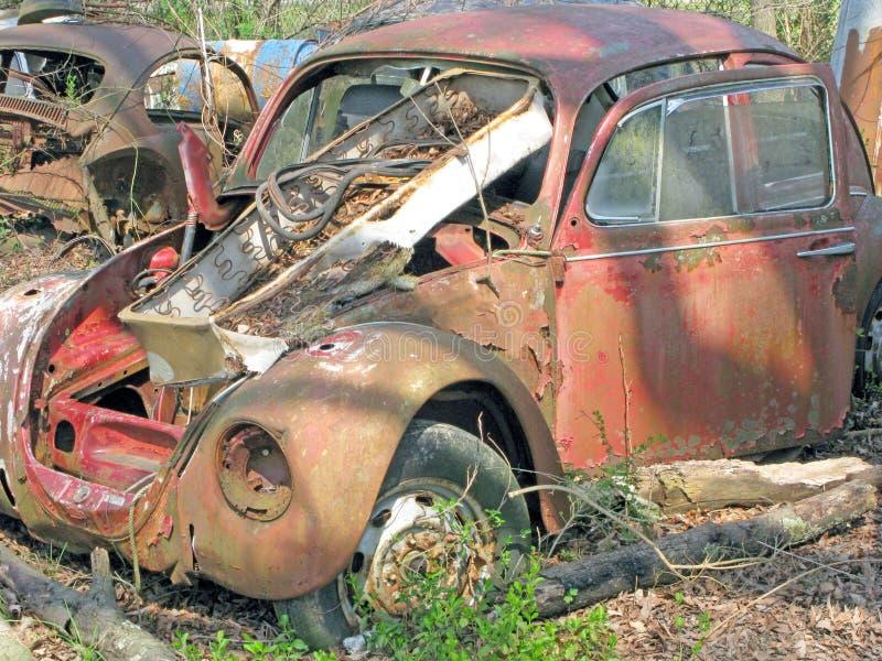 Wen2k Com Junk Yard Salvage Yard Auto Repair Garage: Car Body Parts Salvage Yard. Stock Photo