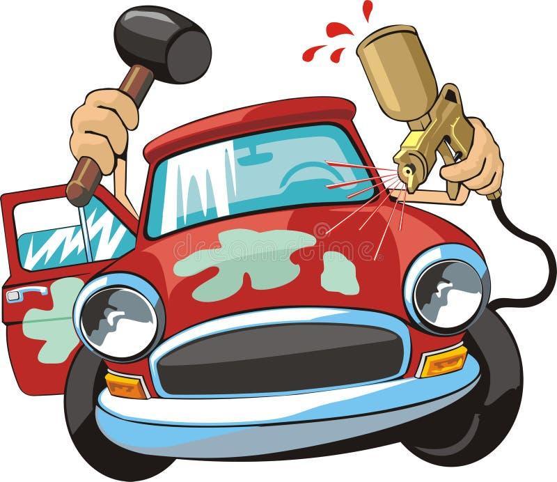 Car body repair royalty free illustration