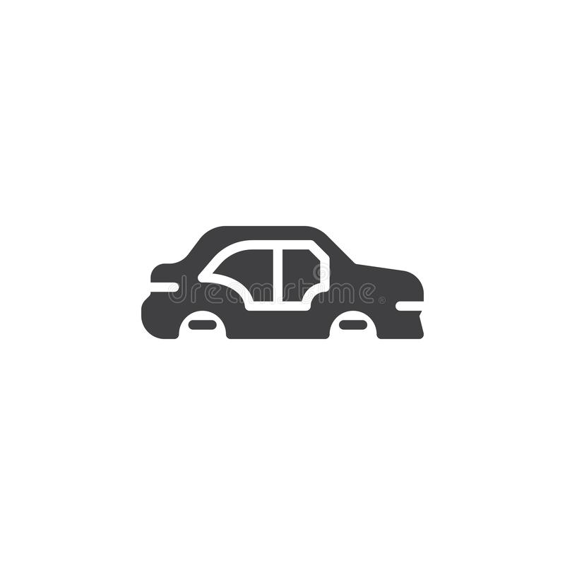 Car body repair vector icon. Filled flat sign for mobile concept and web design. Car body side view glyph icon. Symbol, logo illustration. Pixel perfect vector vector illustration