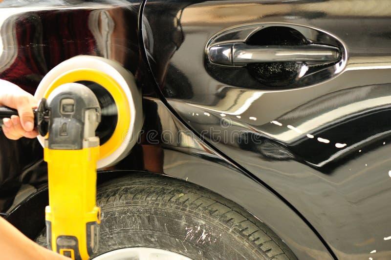 Car body work. In garage stock photos