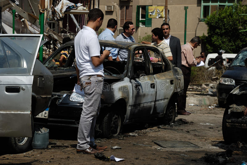 Download Car Bombing Targeting Egypt's Interior Minister Editorial Stock Photo - Image of ibrahim, cairo: 33419568