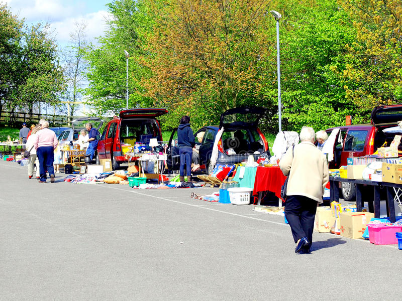 Car Boot sale. royalty free stock photo