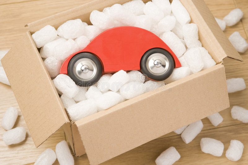Download Car In A Box stock photo. Image of ownership, peanut, colour - 7729390