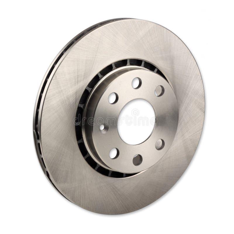 Car brake disc. A car brake disc isolated on white background stock image
