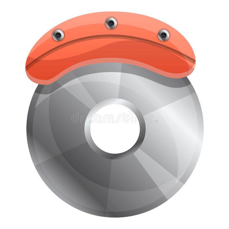 Car brake disc icon, cartoon style. Car brake disc icon. Cartoon of car brake disc vector icon for web design isolated on white background vector illustration