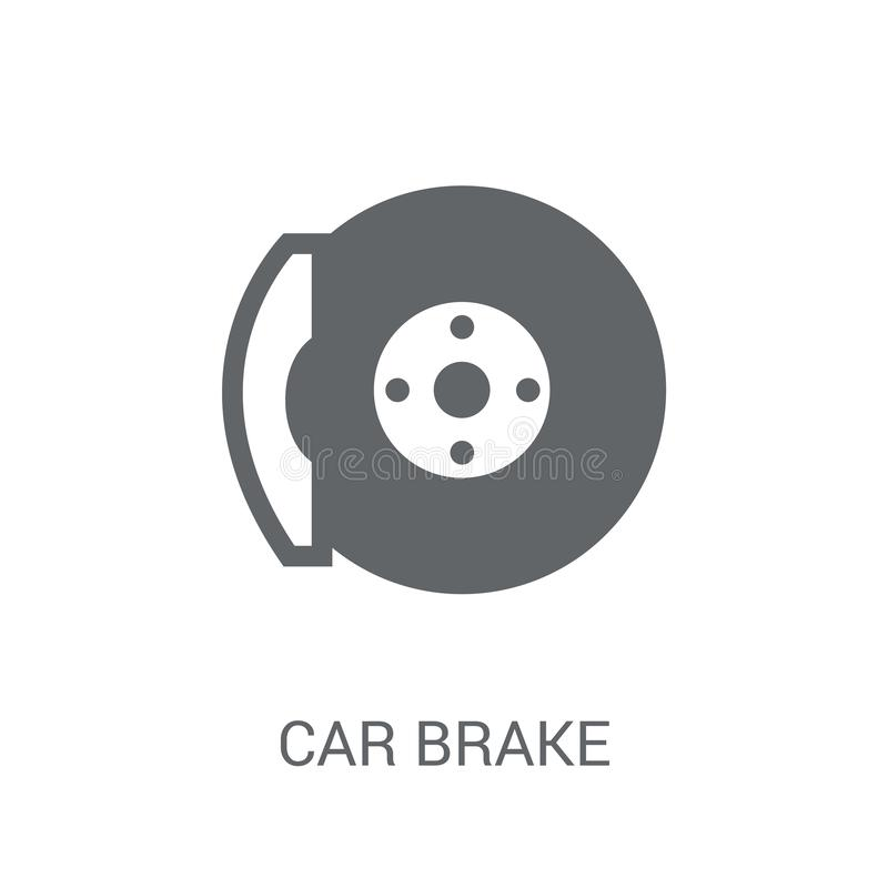 car brake icon. Trendy car brake logo concept on white background from car parts collection stock illustration