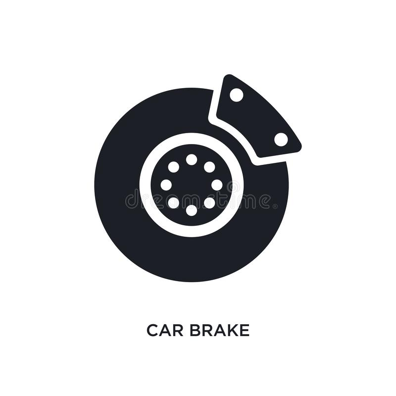 Car brake isolated icon. simple element illustration from car parts concept icons. car brake editable logo sign symbol design on. White background. can be use stock illustration
