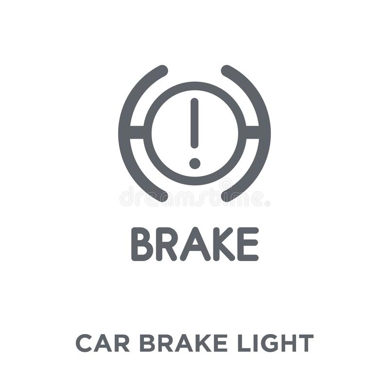 Car brake light icon from Car parts collection. Car brake light icon. car brake light design concept from Car parts collection. Simple element vector stock illustration