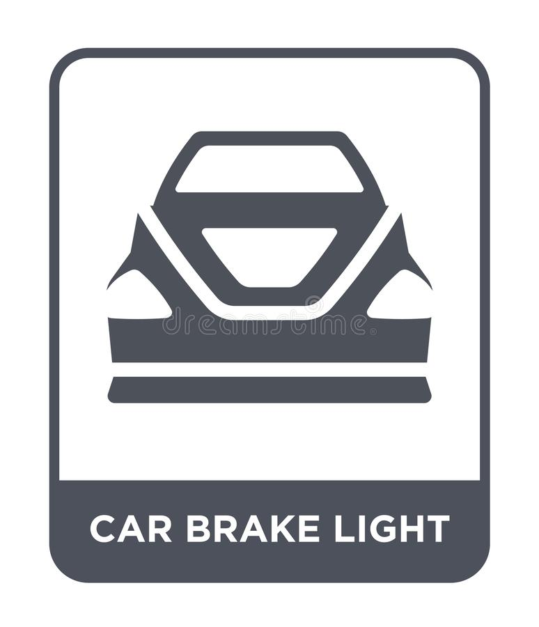 Car brake light icon in trendy design style. car brake light icon isolated on white background. car brake light vector icon simple. And modern flat symbol for royalty free illustration