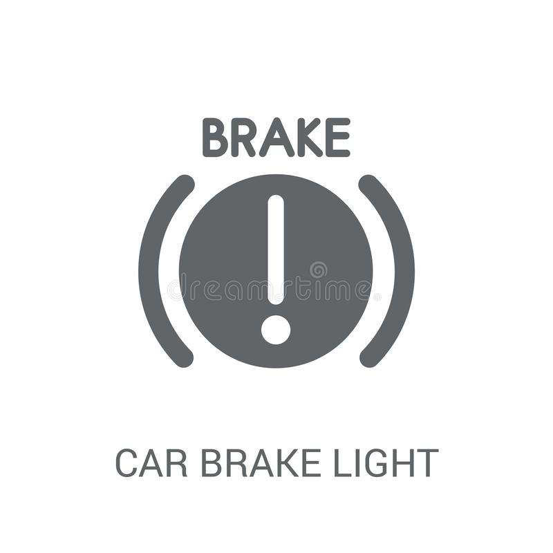 Car brake light icon. Trendy car brake light logo concept on white background from car parts collection. Suitable for use on web apps, mobile apps and print vector illustration