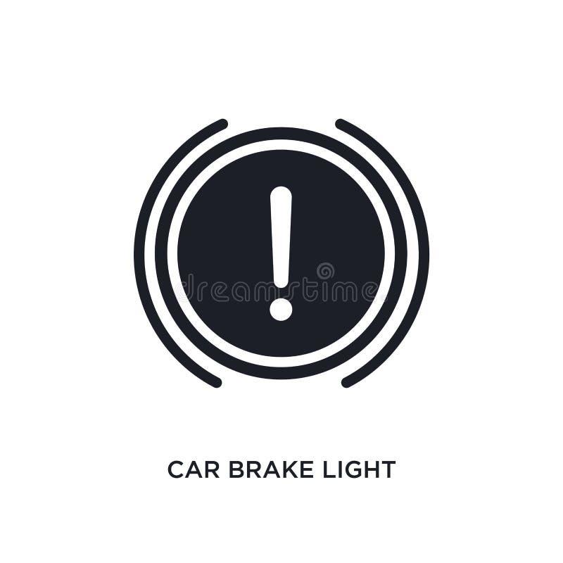 Car brake light isolated icon. simple element illustration from car parts concept icons. car brake light editable logo sign symbol. Design on white background royalty free illustration