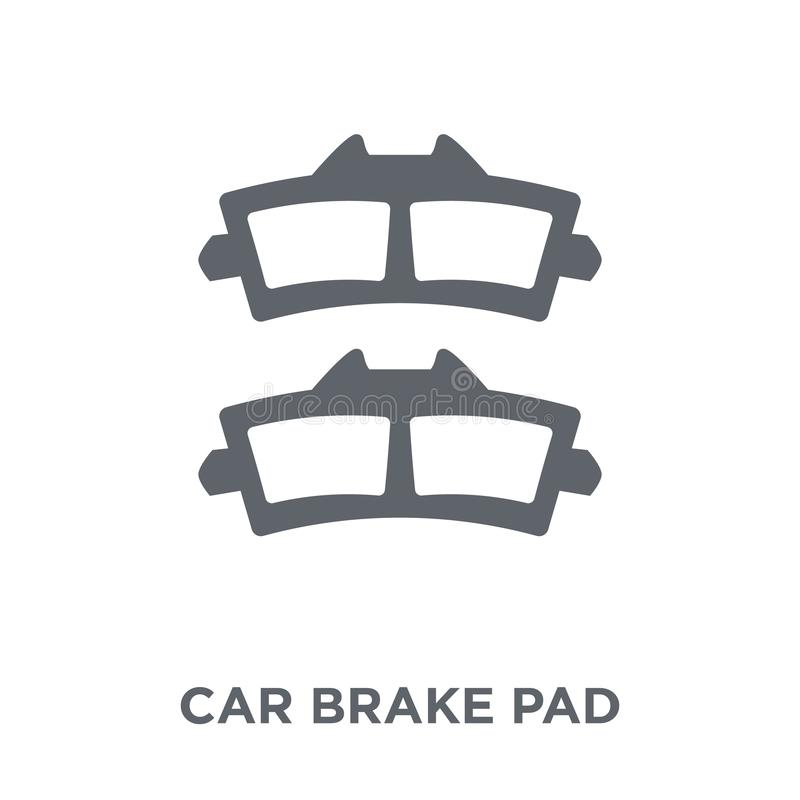 car brake pad icon from Car parts collection. stock illustration