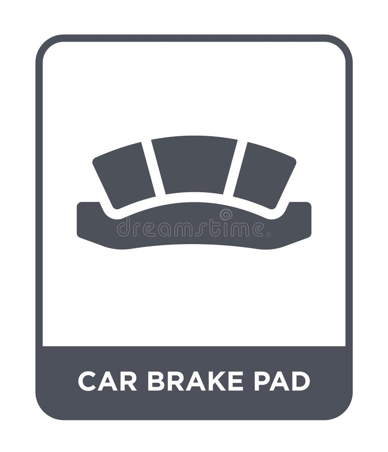 car brake pad icon in trendy design style. car brake pad icon isolated on white background. car brake pad vector icon simple and royalty free illustration