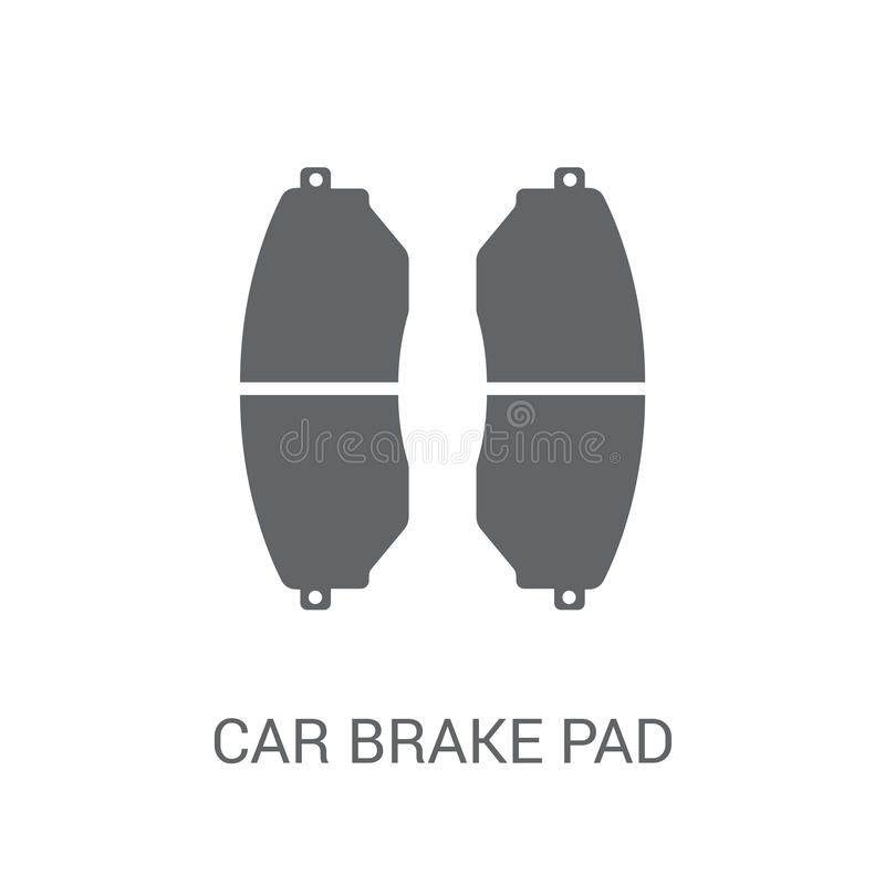 Car brake pad icon. Trendy car brake pad logo concept on white b. Ackground from car parts collection. Suitable for use on web apps, mobile apps and print media royalty free illustration