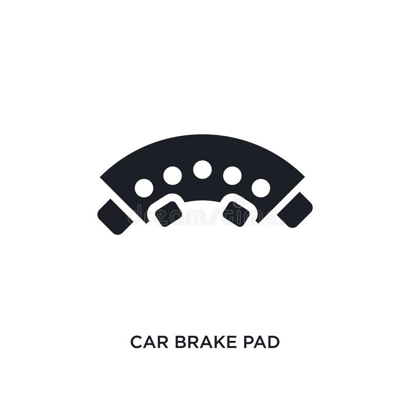 car brake pad isolated icon. simple element illustration from car parts concept icons. car brake pad editable logo sign symbol vector illustration