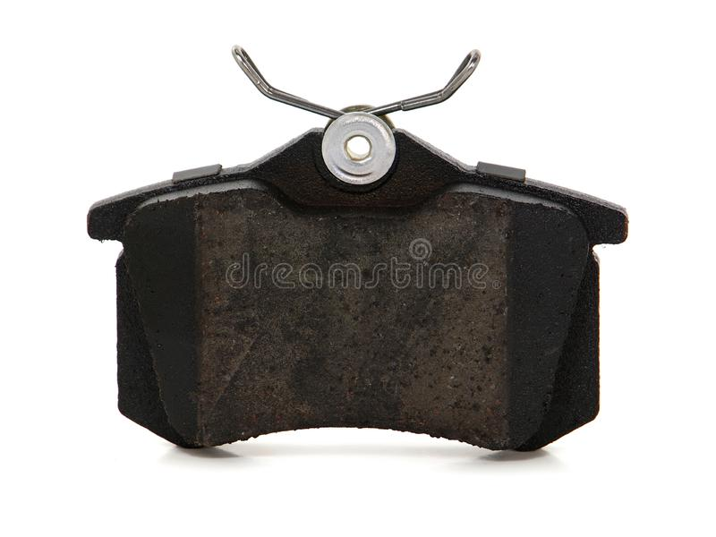 Car brake pad. Isolated on white background stock photo