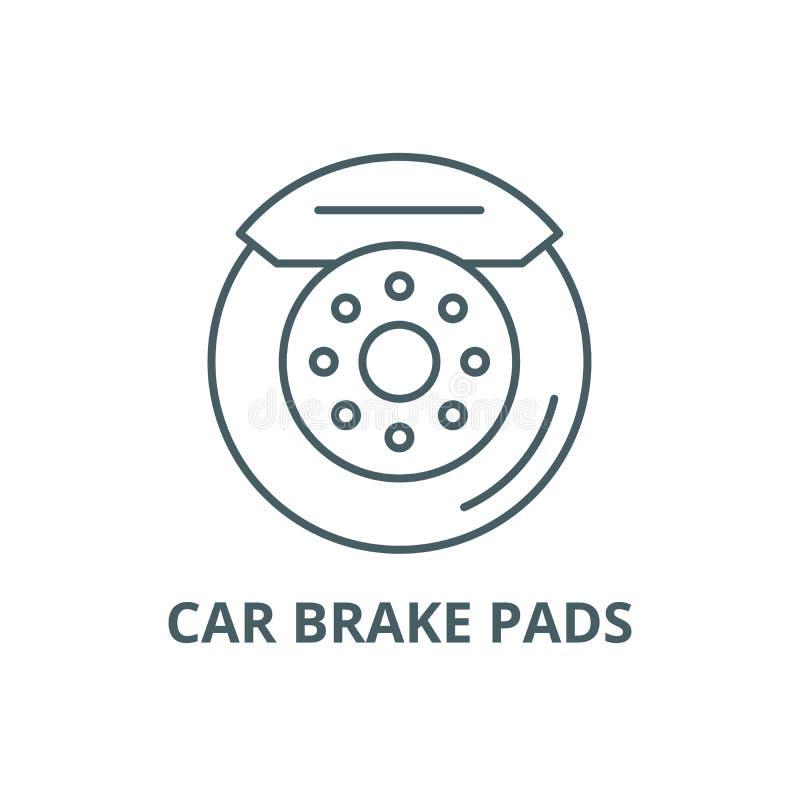 Car brake pads line icon, vector. Car brake pads outline sign, concept symbol, flat illustration. Car brake pads line icon, vector. Car brake pads outline sign vector illustration