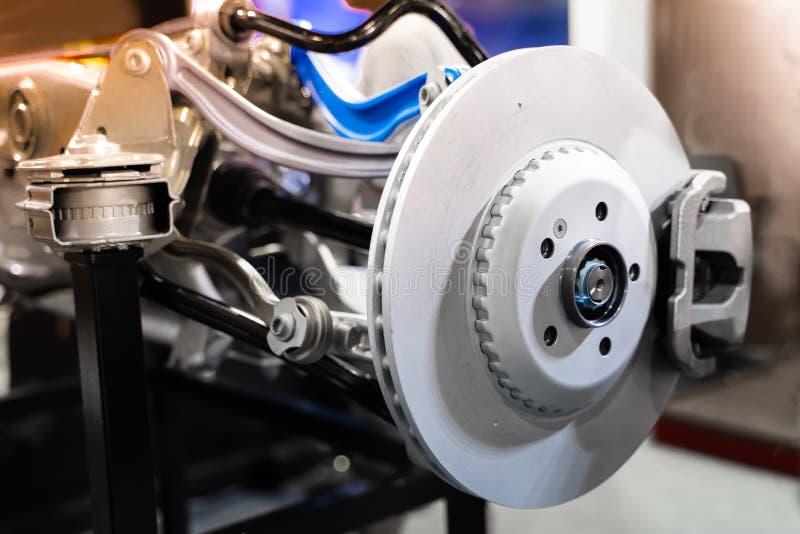 Car brakes in the production plant.soft focus. Auto, automobile, automotive, break, change, check, control, design, disc, disk, equipment, factory, fix, front stock images