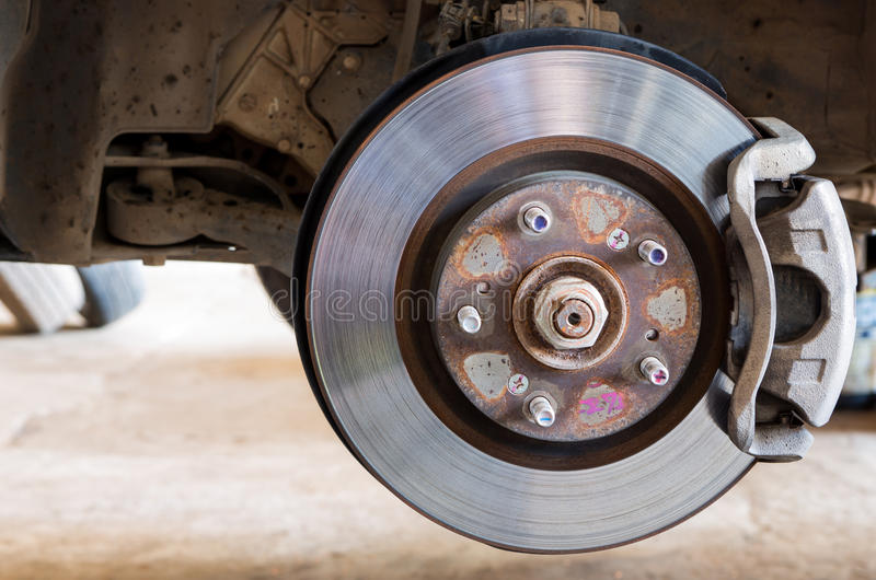 Car brakes system. Is tool royalty free stock photo