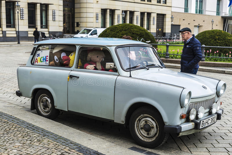 Car of the brand Trabant in Berlin, Germany stock image