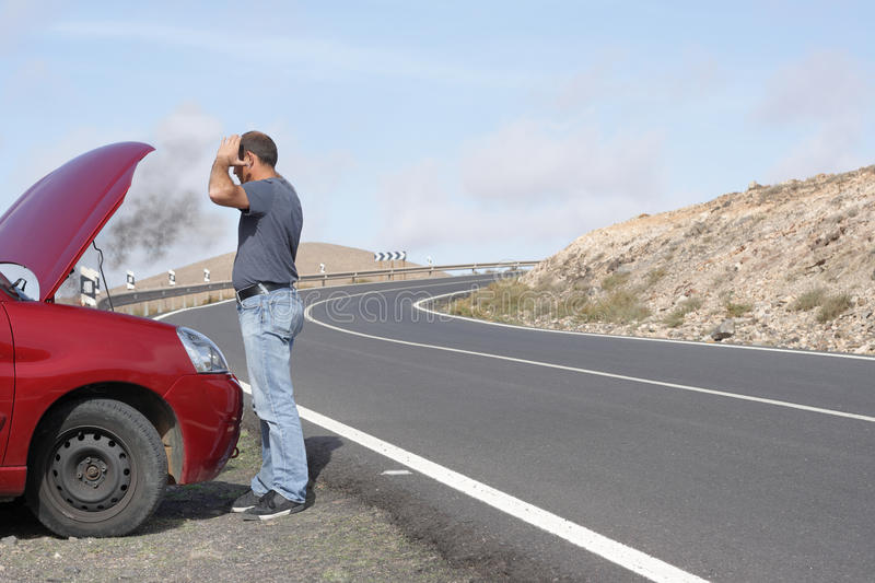 Download Car breakdown stock photo. Image of damage, towing, fire - 13624112