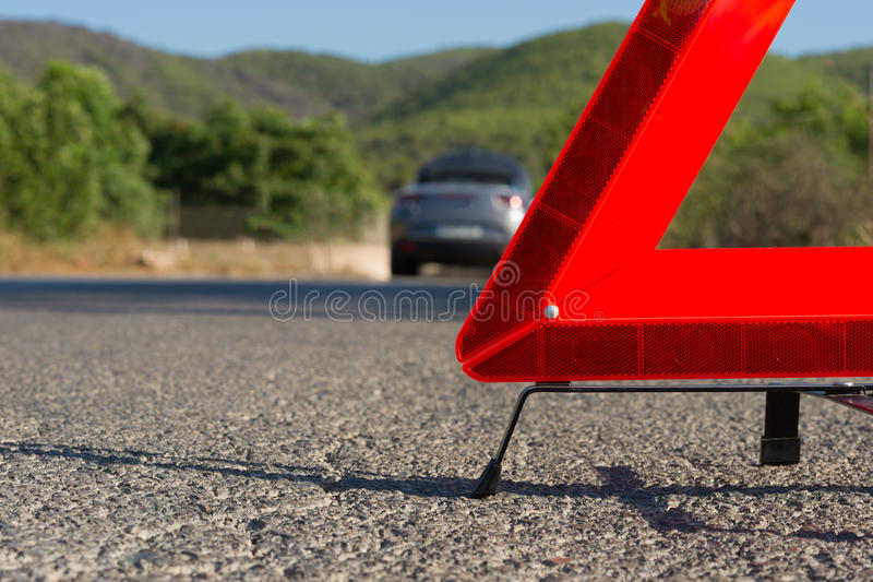 A Car With A Breakdown Stock Image