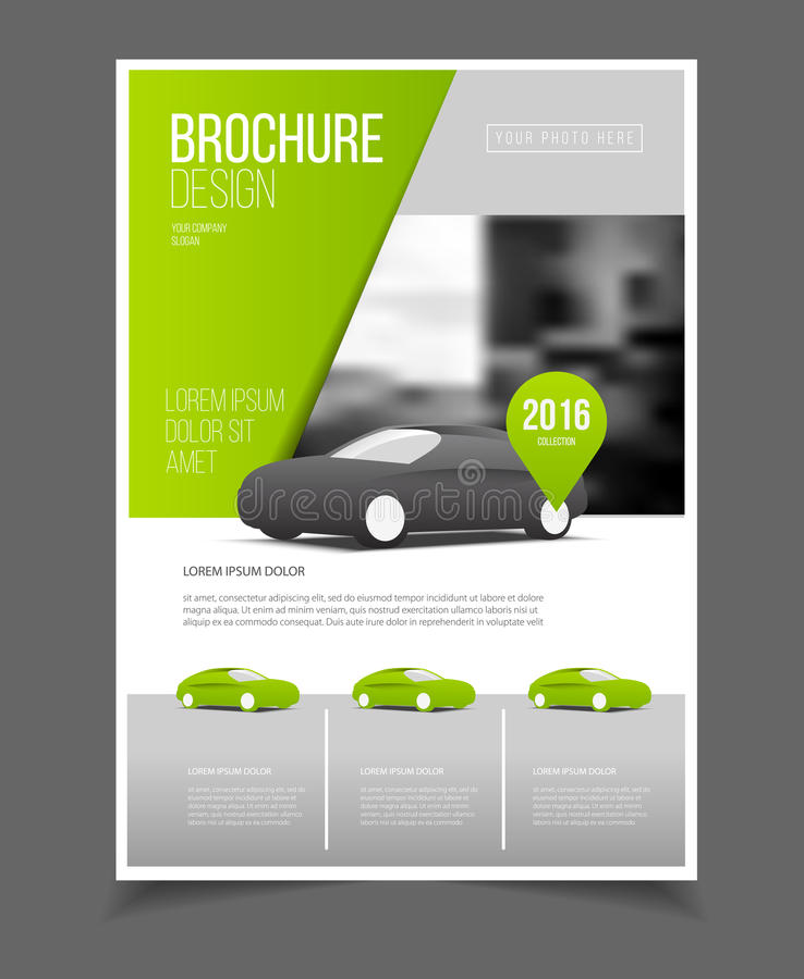 Car Brochure Auto Leaflet Brochure Flyer Template A4 Size Desig
