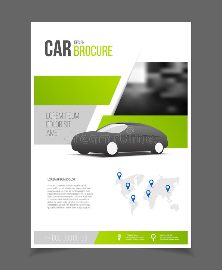 Car Brochure Auto Leaflet Brochure Flyer Template A4 Size Desig