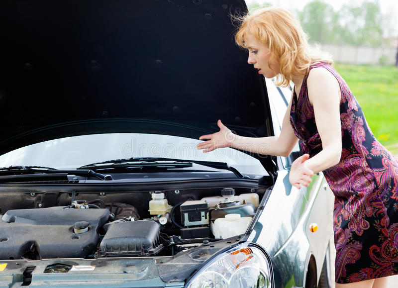Download A car is broken down stock image. Image of beautiful - 19608485