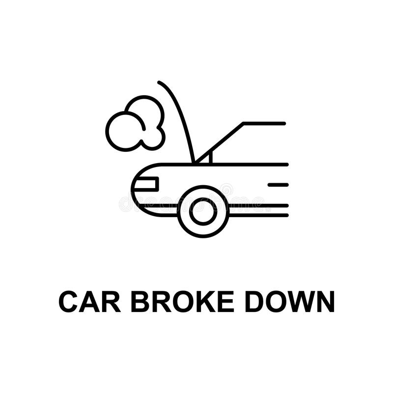 car broken down icon. Element of car repair for mobile concept and web apps. Detailed icon can be used for web and mobile. Premiu stock illustration