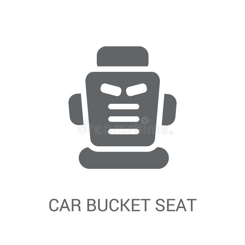 car bucket seat icon. Trendy car bucket seat logo concept on white background from car parts collection stock illustration